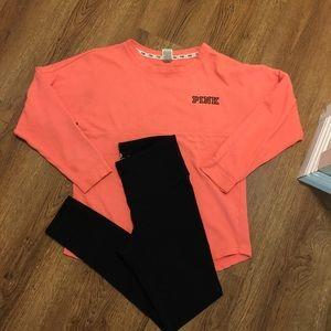 Victoria's Secret PINK Sweatshirt & Leggings